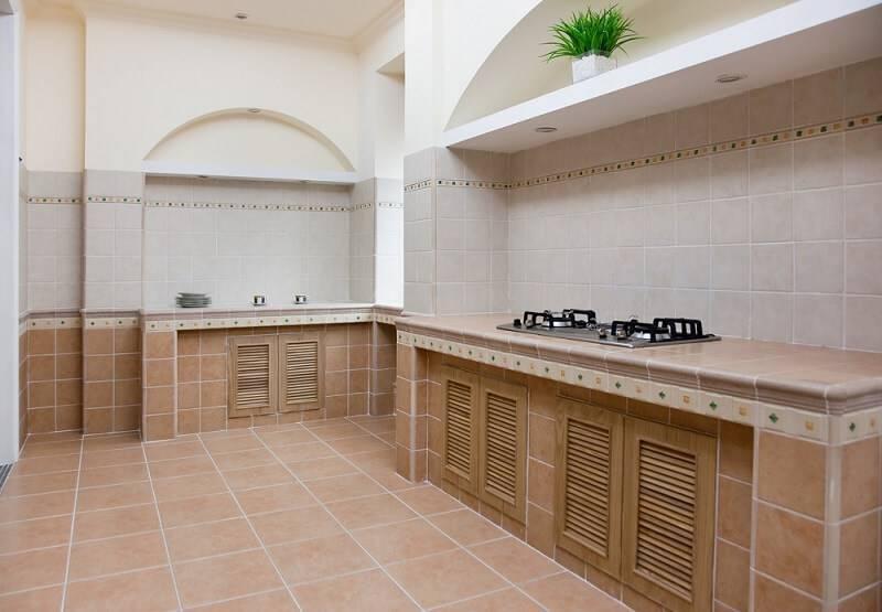 Piso cerâmica na cozinha